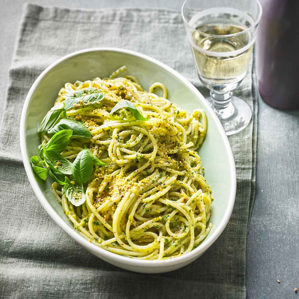 Pasta mit Pistazien-Pesto: Thermomix ® Rezept