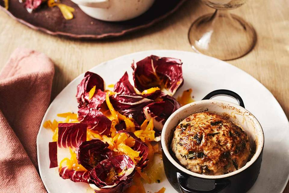 Kleine Kalbshackbraten mit Kürbis-Radicchio-Salat Rezept