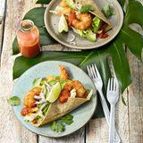 Tacos mit knusprigen Garnelen