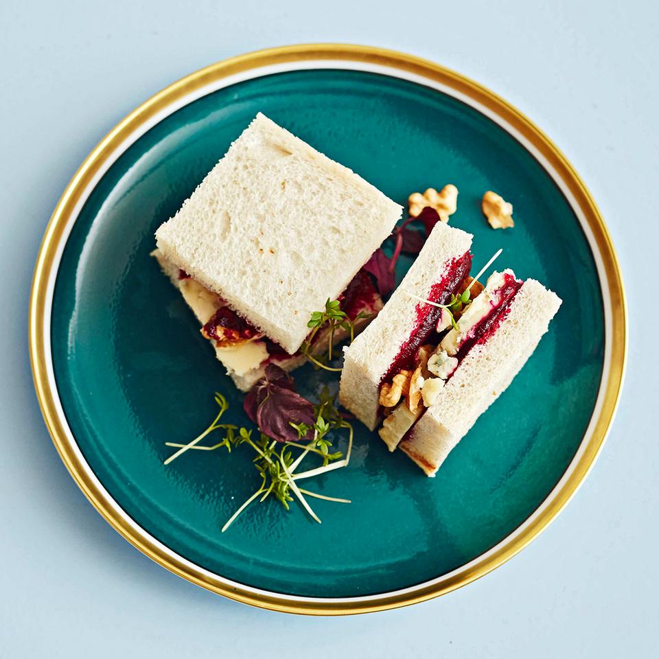 Sandwiches mit Roter Bete und Stilton