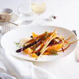 Lauwarmer Wurzelgemüse-Salat