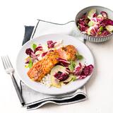 Sweet-Chili-Lachs mit Birnensalat