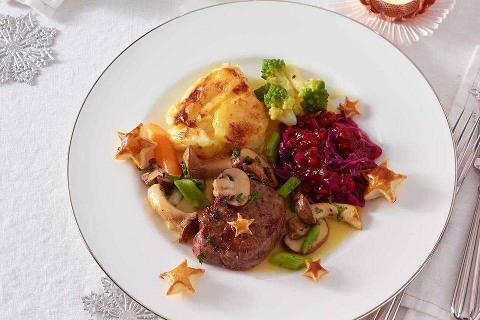 Rinderfilet mit Romanesco und Kartoffel-Gratin Rezept