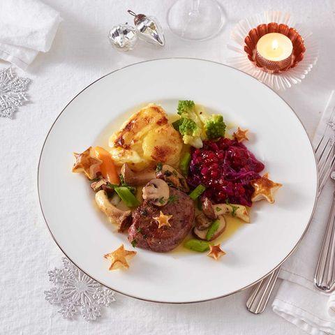 Rinderfilet mit Romanesco und Kartoffel-Gratin
