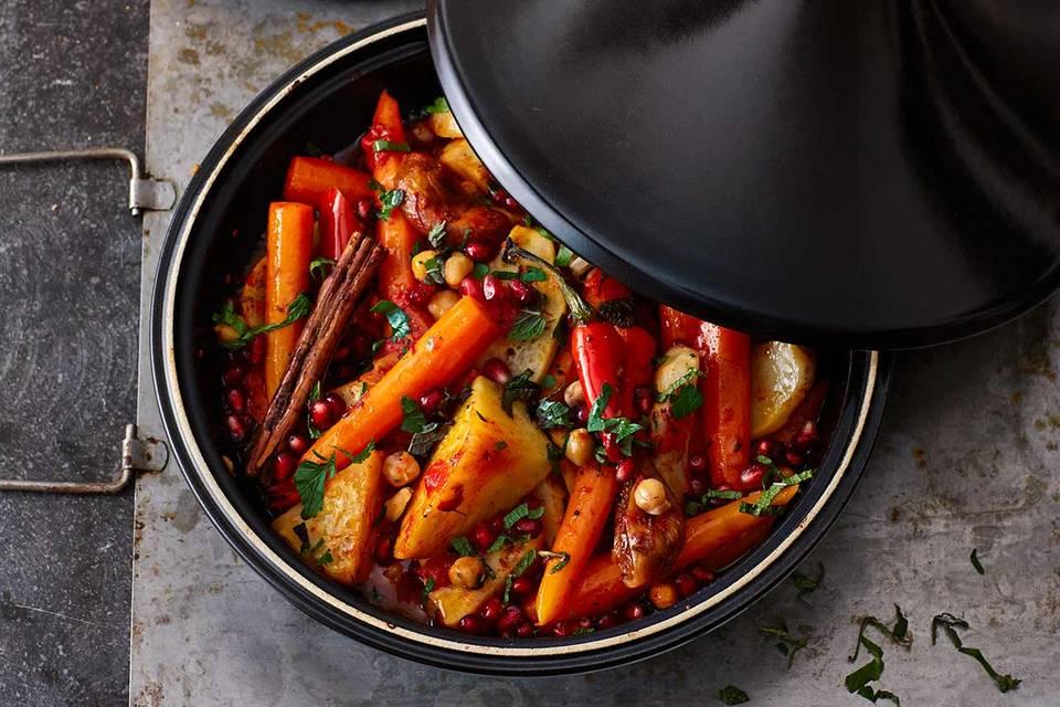 Gemüse-Tajine mit Kichererbsen Rezept