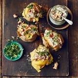 Ofenkartoffeln mit Pfifferlingen und Gremolata