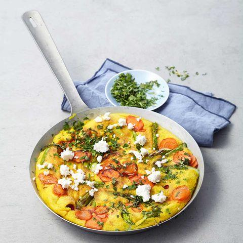 Gemüsepfannkuchen mit Gremolata