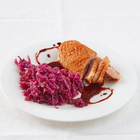 Gebratene Entenbrust mit Rotweinsauce