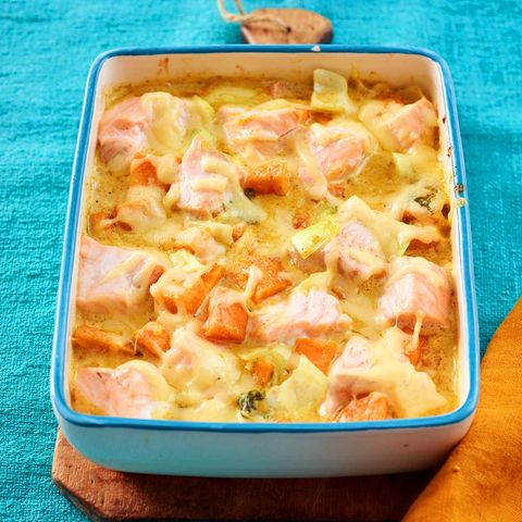 Lachs-Süßkartoffel-Auflauf