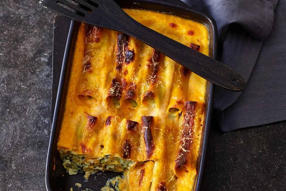 Cannelloni mit Wirsing und Kürbissauce Rezept