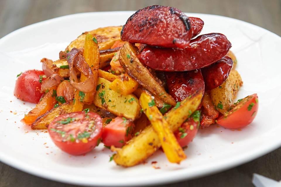 Ofenkartoffelsalat mit Chorizo Rezept