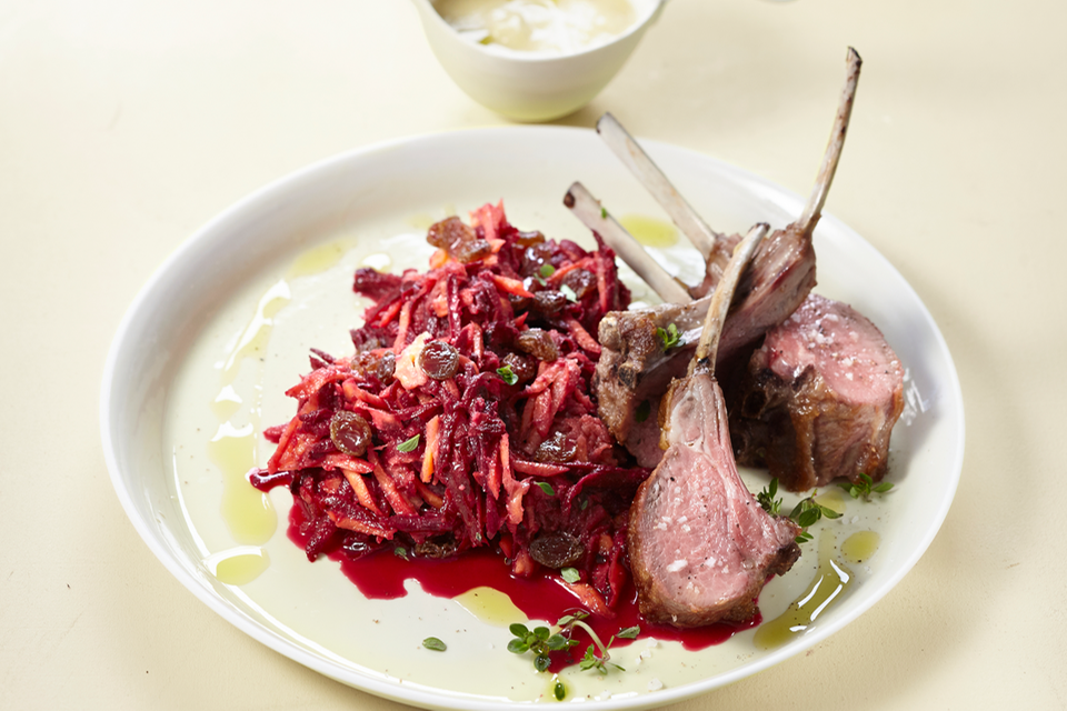 Lammkoteletts mit Rote-Bete-Salat Rezept