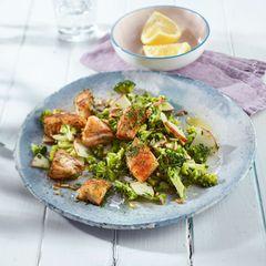 Gebratener Seelachs mit Brokkolisalat