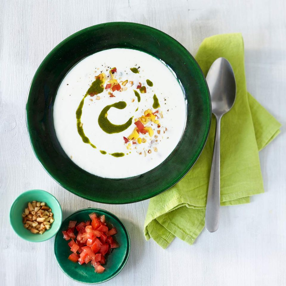 Mozzarella-Suppe