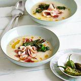 Palbohnensuppe mit Pimientos