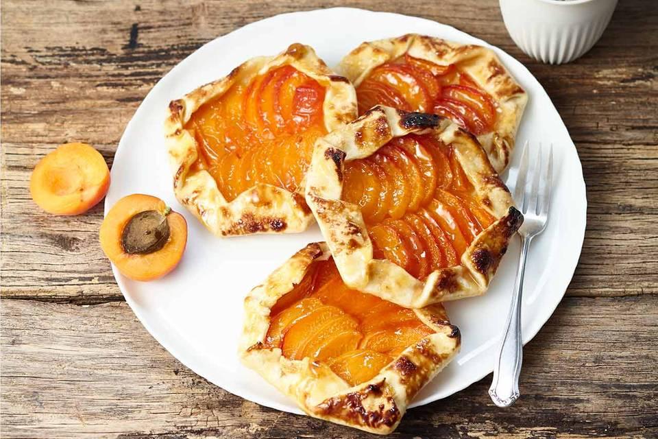 Aprikosen-Galettes Rezept