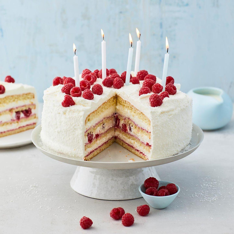Kokos-Himbeer-Torte