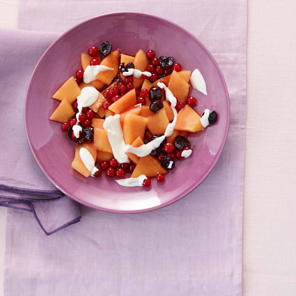 Melonen-Amarena-Salat