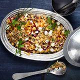 Quinoa-Salat mit Rotkohl und Schafskäse