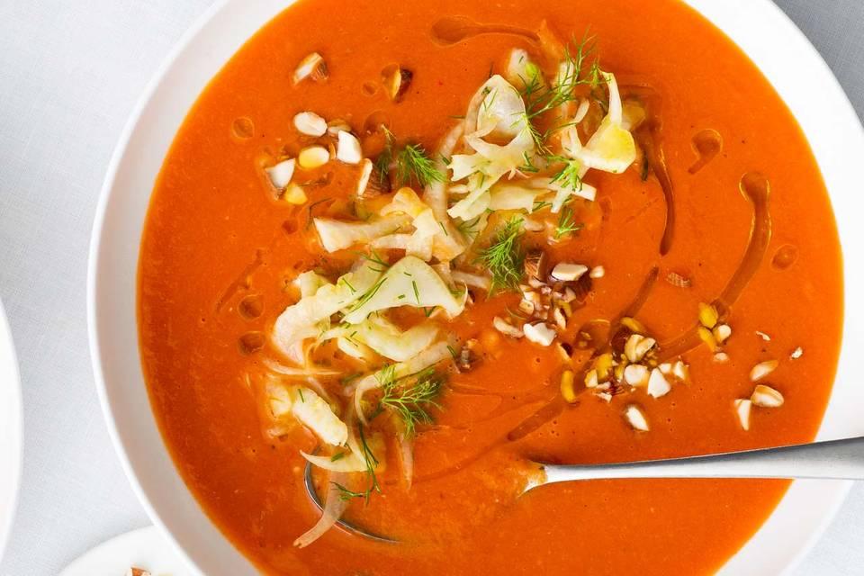 Kalte Tomaten-Aprikosen-Suppe Rezept