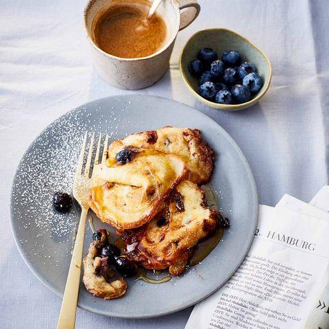 Blaubeer-Schoko-Pancakes