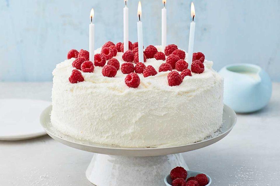 Kokos-Himbeer-Torte: Endergebnis