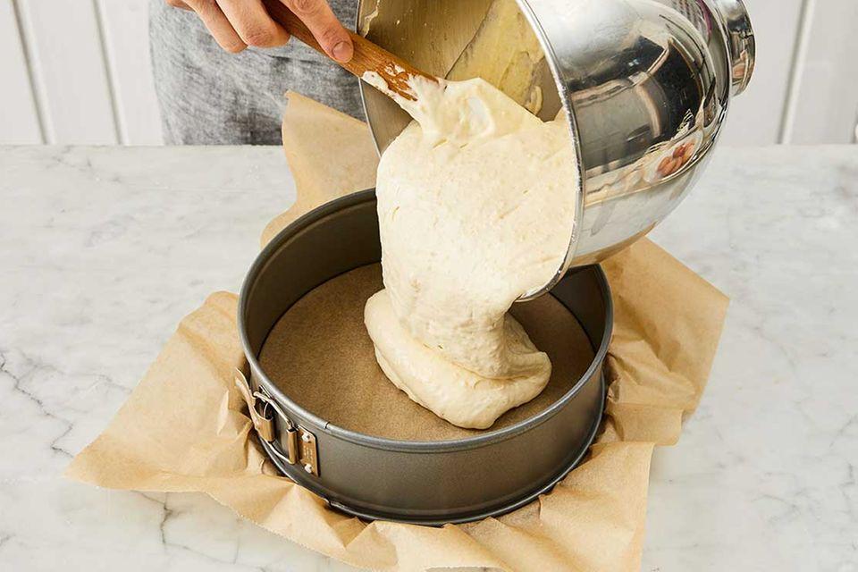 Kokos-Himbeer-Torte: Schritt 2, Teig in Springform