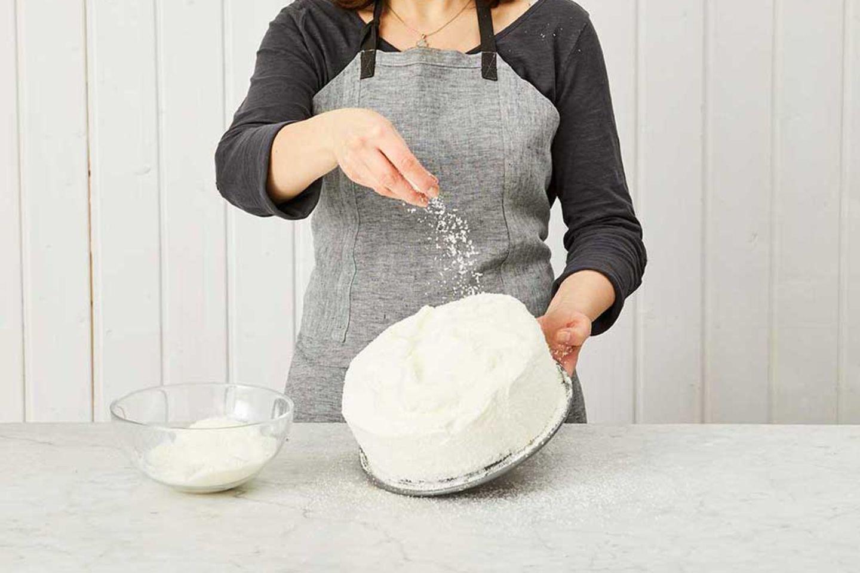 Kokos-Himbeer-Torte: Schritt 11, Finish mit Kokosraspel