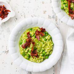 Grüner Risotto mit Chorizo