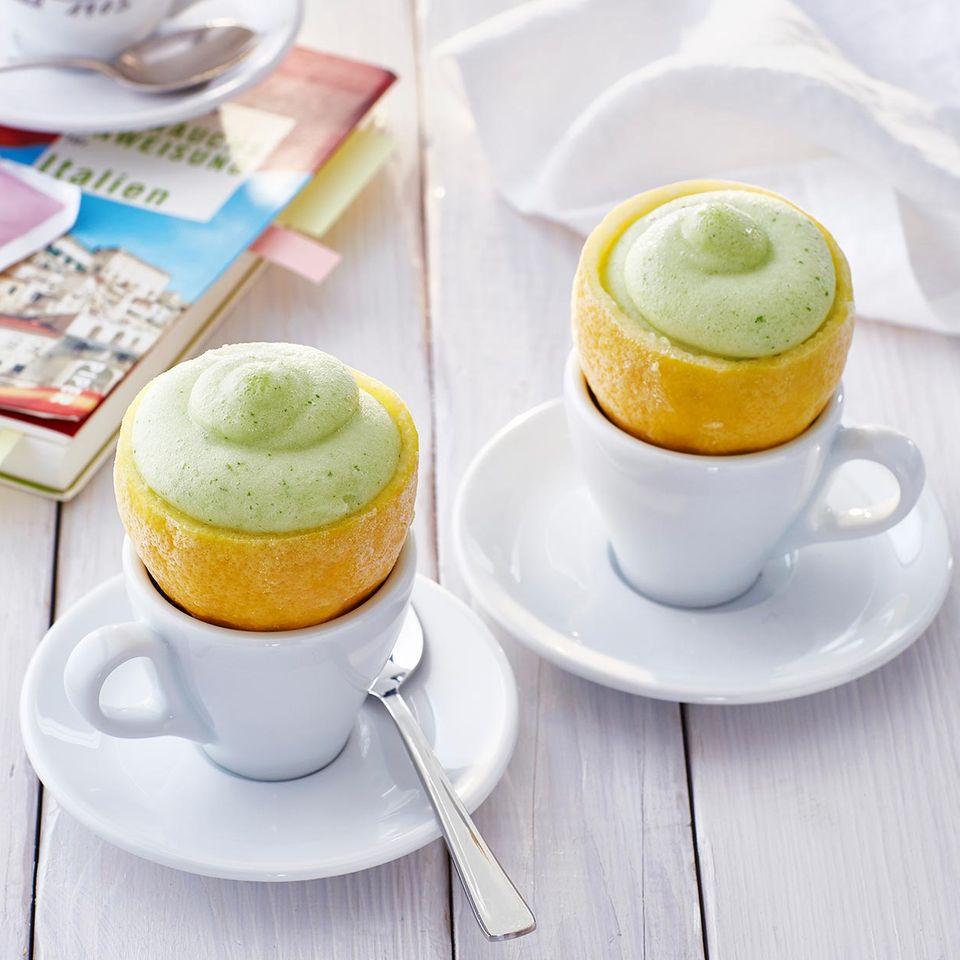 Zitronen-Basilikum-Sorbet