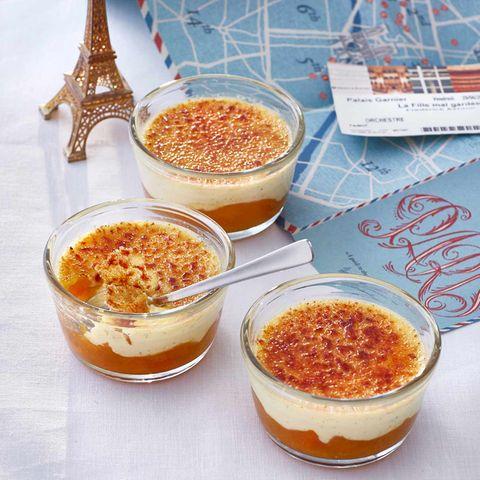Crème brûlée mit Aprikosen