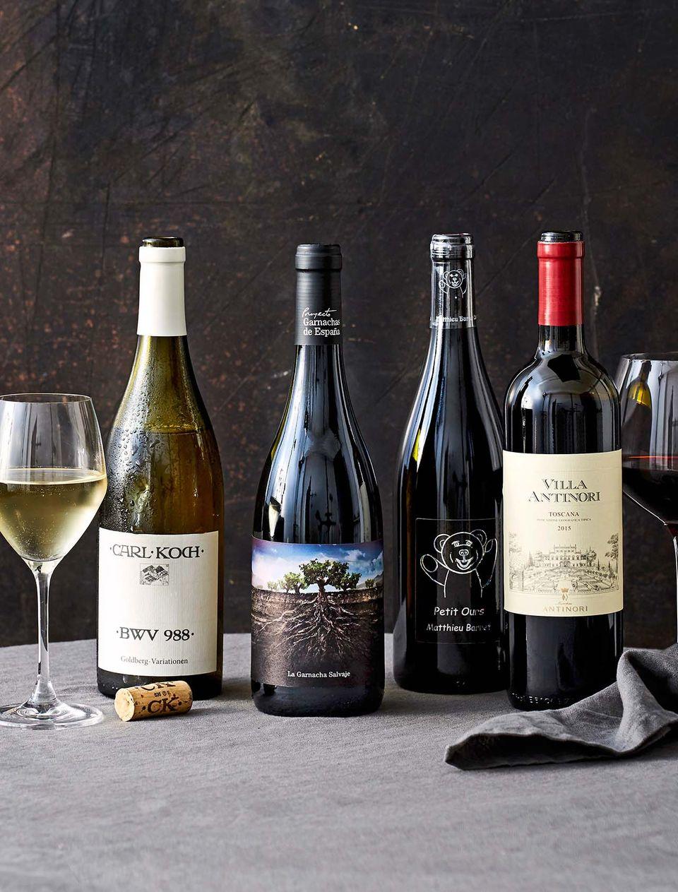 Exklusives Weinpaket mit vier Weinen