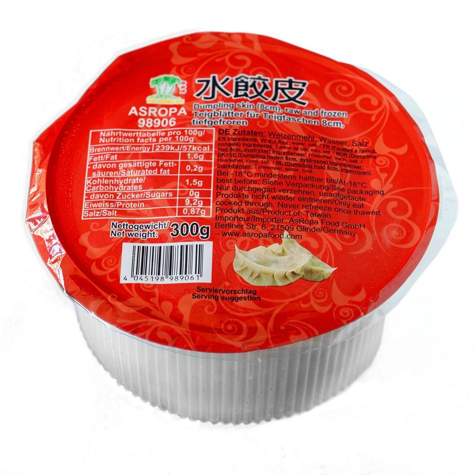 Fertiger Dumpling Teig in der Packung