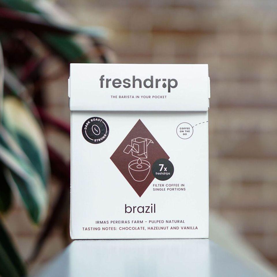 Freshdrip Kaffee in der Packung