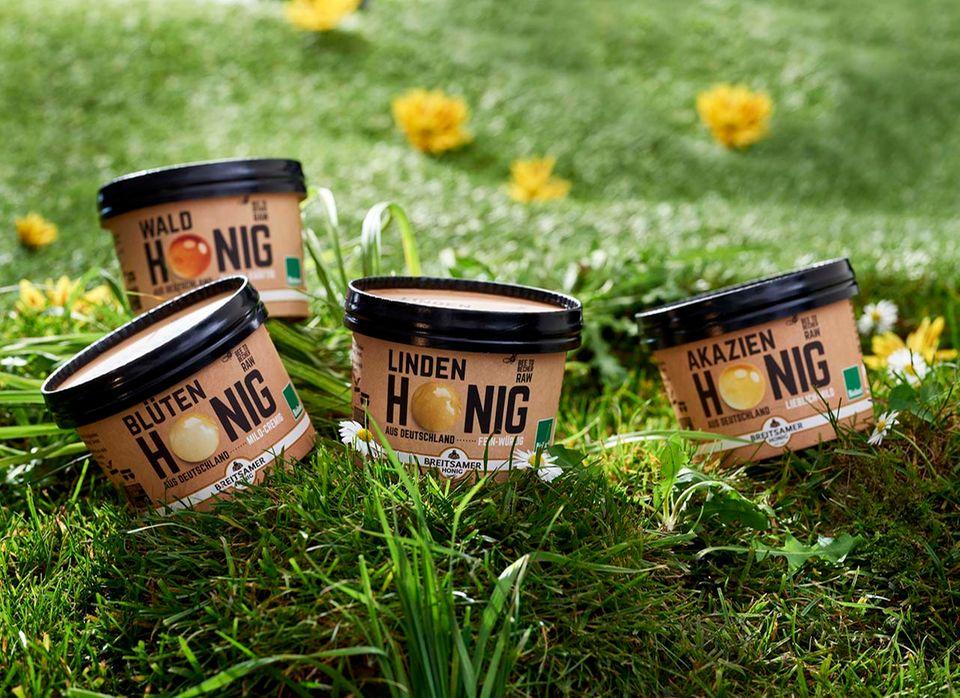 Die vier neuen Bio-Honige