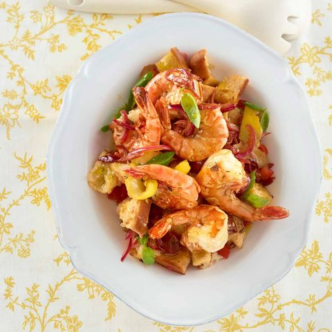 Garnelen-Brot-Salat
