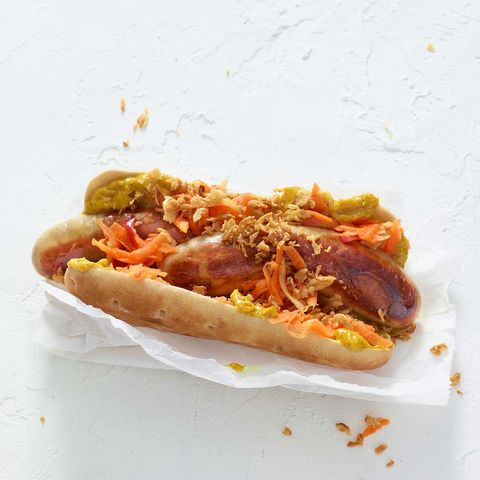 Thüringer Hotdog mit Curry-Mango