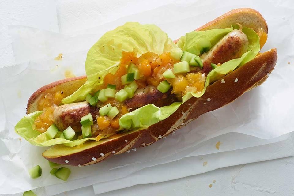 Hotdog süßsauer Rezept