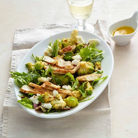 Hähnchen-Romanesco-Salat