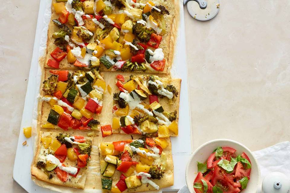Gemüse-Dinkel-Pizza Rezept