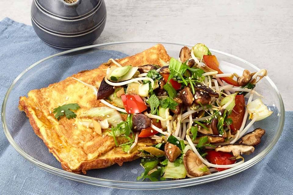 Asia-Omelette Rezept