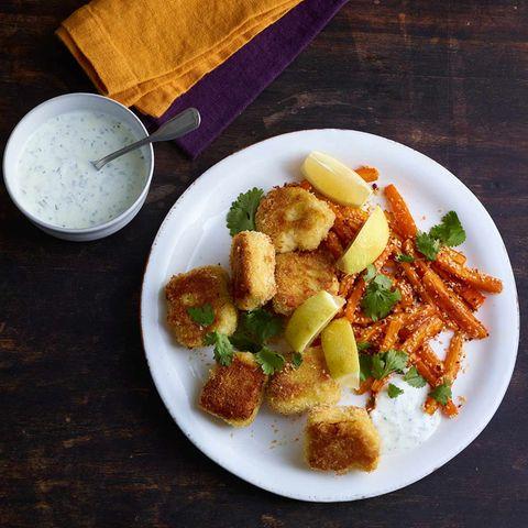 Fisch-Nuggets mit Sesammöhren