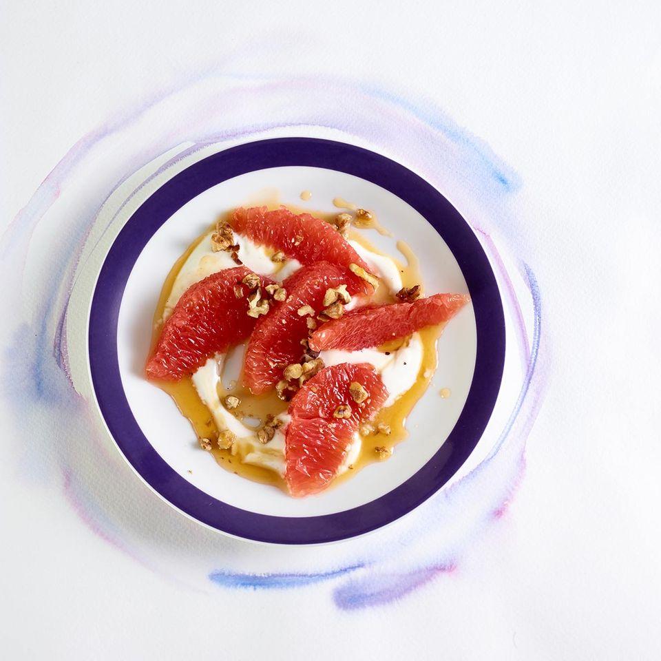 Grapefruit mit Joghurt