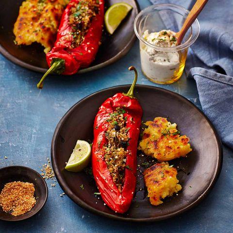 Spitzpaprika mit Gewürz-Reis-Füllung