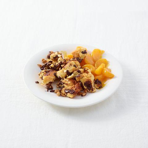 Schoko-Erdnuss-Schmarren mit Clementinenkompott