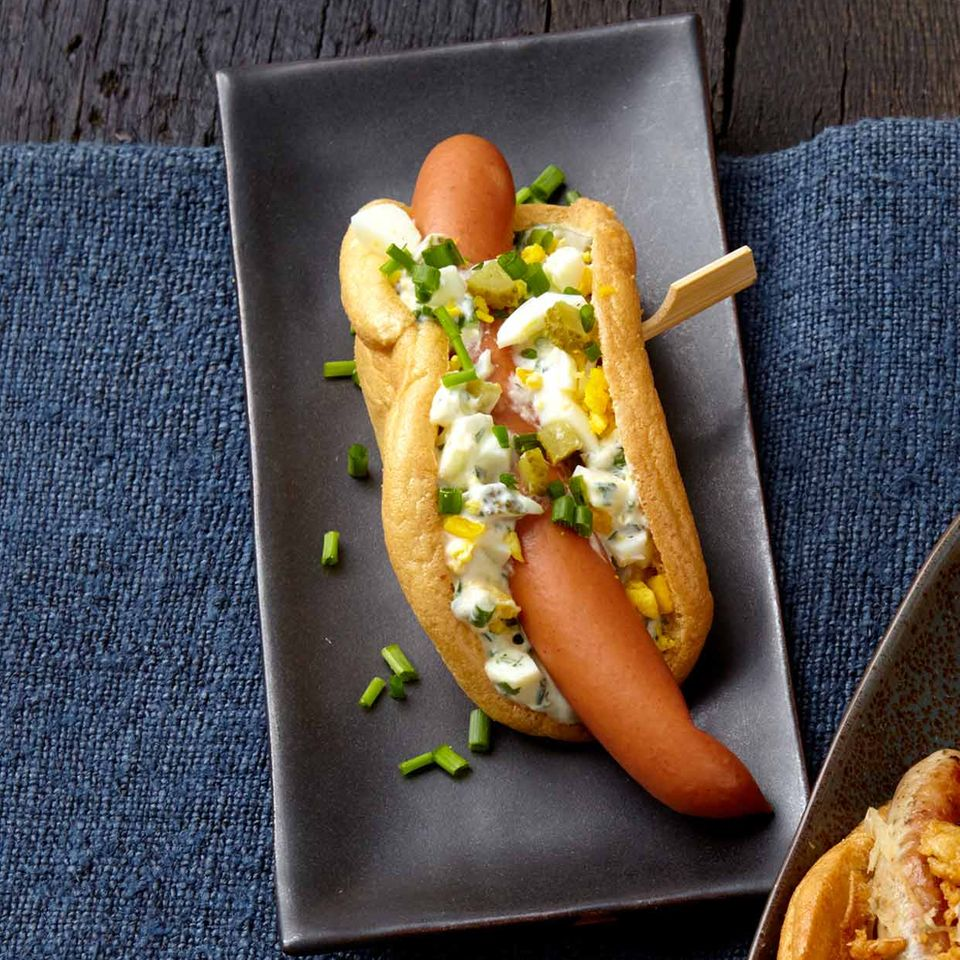 Low-Carb-Hotdog mit Remoulade