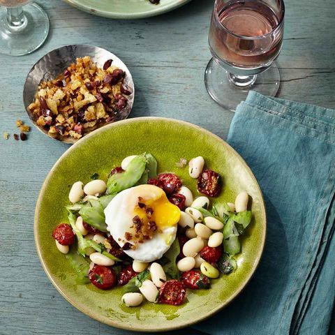 Palbohnensalat mit Essig-Ei
