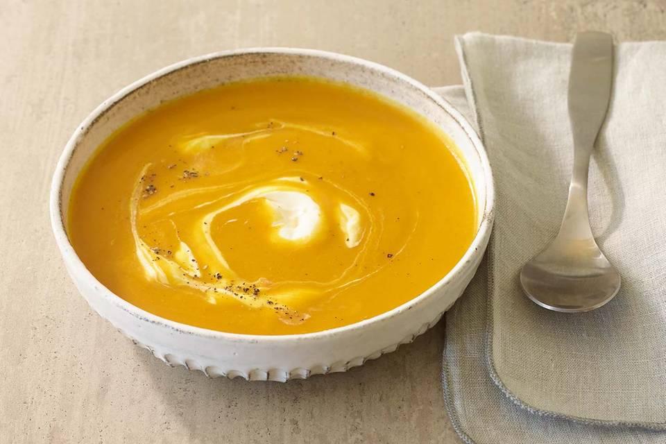 Kürbissuppe mit Meerrettich Rezept