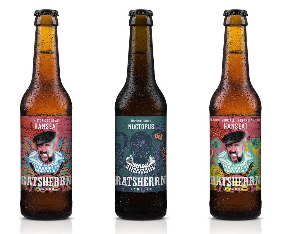 Limitierte Biere von Ratsherrn Hanseat und Noctopus