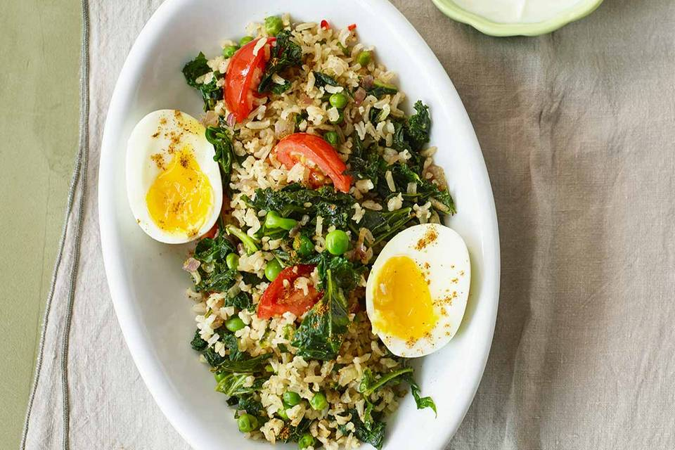 Gemüse-Reis-Pfanne mit Ei Rezept